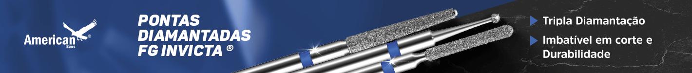 Pontas Diamantadas FG Invicta na Dental Cremer Produtos Odontológicos